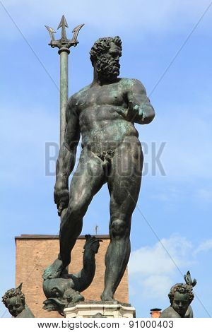 medieval Neptune statue of Bologna