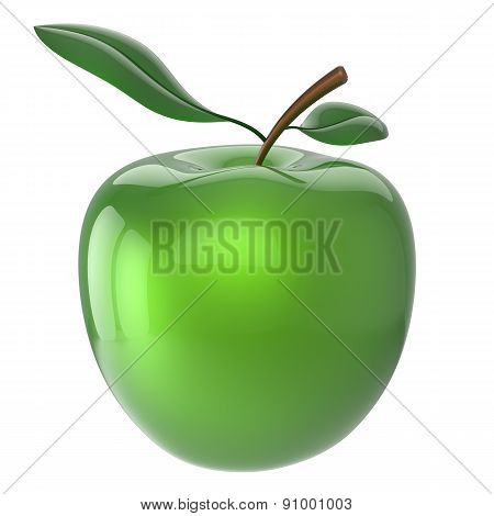 Green Apple Fruit Nutrition Antioxidant Fresh Ripe Healthy Icon