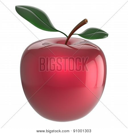 Apple Ripe Red Fruit Nutrition Antioxidant Fresh Fruit Beauty Icon