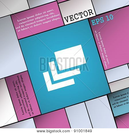 Layers  Icon Sign. Modern Flat Style For Your Design. Vector