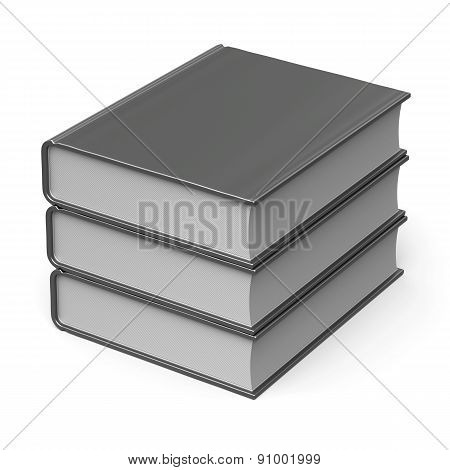 Blank Books Stack White Cover 3 Three Classic