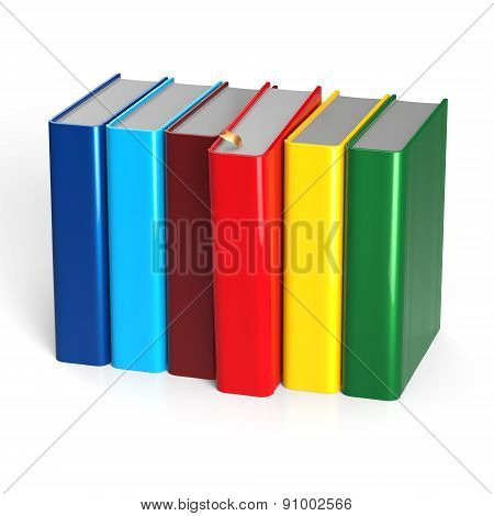 Books Textbook Choice Row Colorful Red Selecting Blank