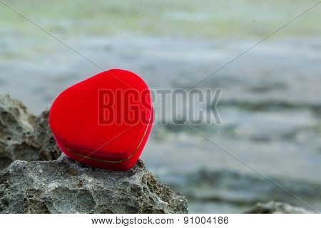 Symbol of Wedding and romance, Heart Shape Red Box