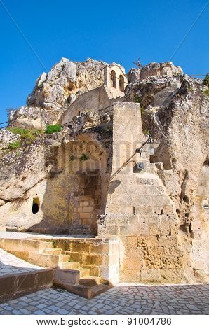 Church of Madonna de Idris. Matera. Basilicata. Italy.
