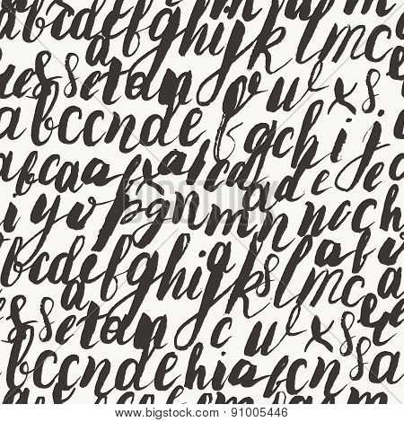 Seamless Pattern With Letters