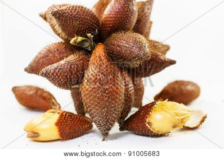 Bunch Of Fresh Salacca, Salak Fruit