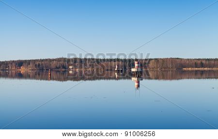 Tranquil Coastal Landscape Of The Saimaa Canal
