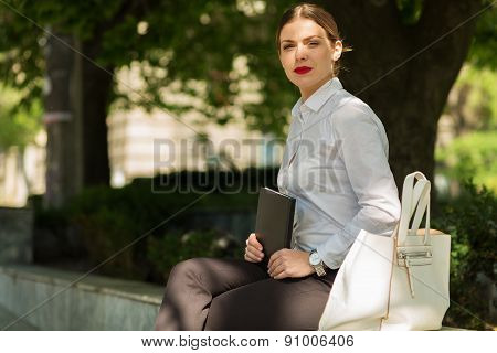 Business Lady In The City