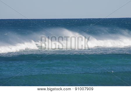 white-crested waves