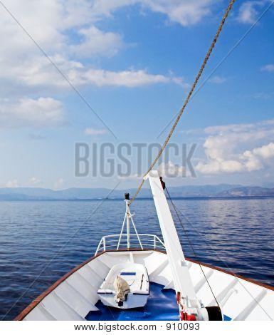 Cruising The Blue Sea And Sky