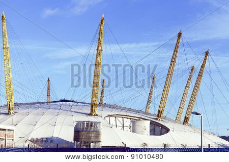 Modern dome structure in East London Greenwich Peninsula, 02