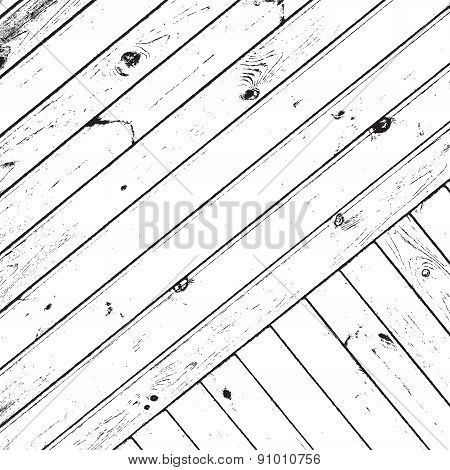 Striped Wooden Planks Background
