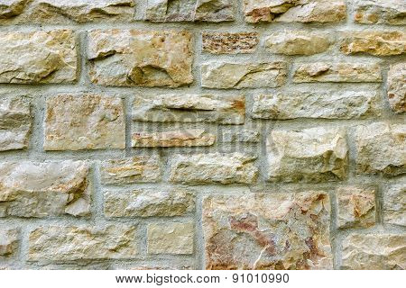 Old Stone Wall And Mortar Background Texture