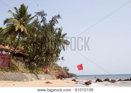GOA India Beach, beautiful with palm trees.