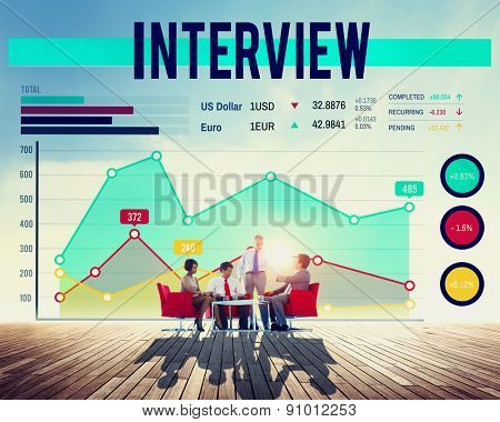 Interview Agreement Human Resources Interviewer Concept