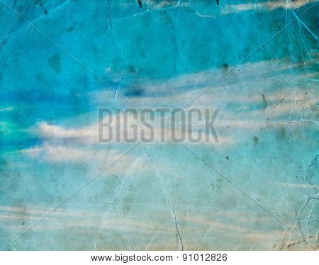 cloud in blue sky, nature background