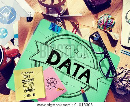Data Information Creative Storage Planning Concept