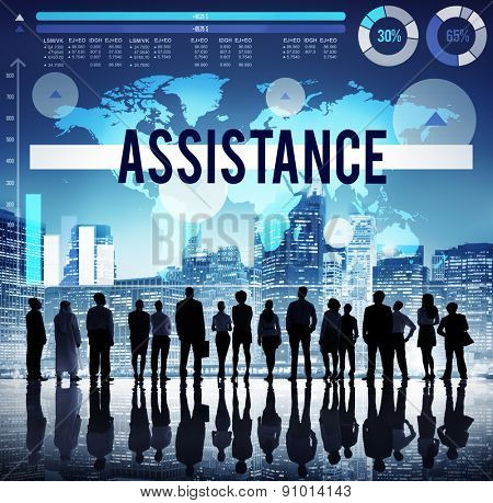 Assistance Support Strategy Marketing Coaching Concept