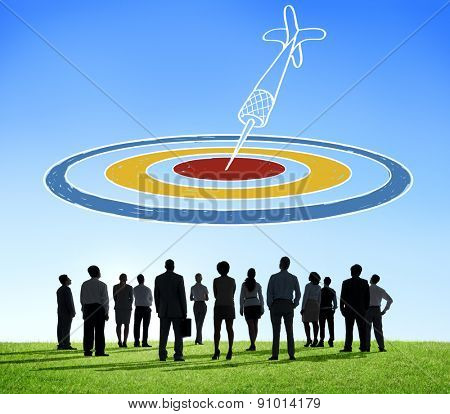 Target Aim Dot Objective Achievement Dartboard Goal Concept