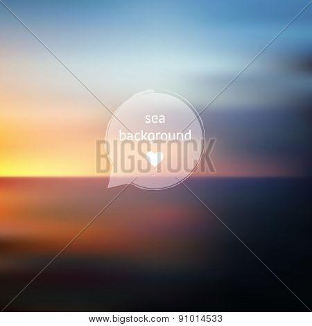 Ocean Blurred Landscape