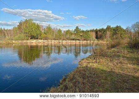 Russian Spring Landscape.