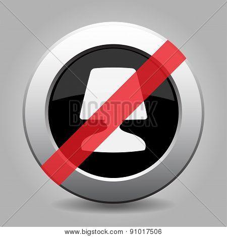Gray Chrome Button - No Lamp