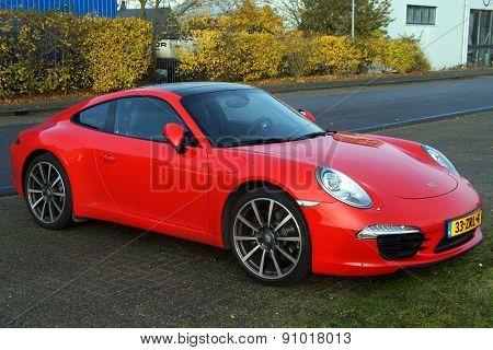 Fire Red Porsche 911 - luxury car