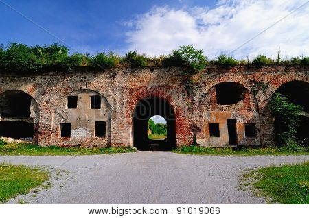 Old brick fortress