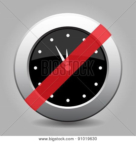 Gray Chrome Button - No Clock