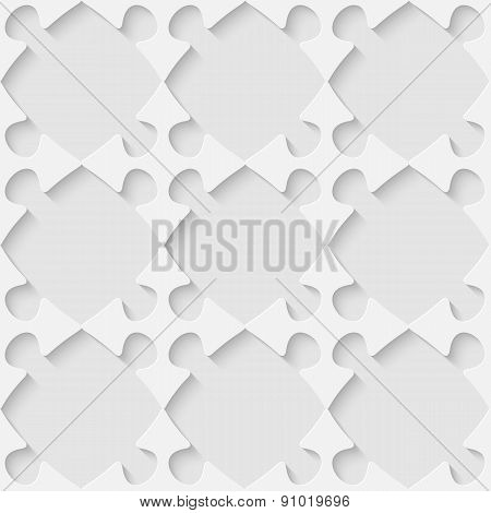 Vector 3d seamless puzzle pattern