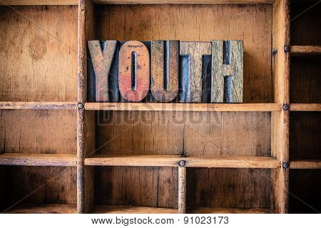 Youth Concept Wooden Letterpress Theme