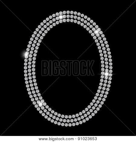 Abstract Luxury Black Diamond Background Vector Illustration