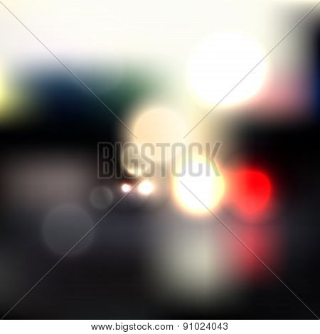 Abstract Blurred Background With Lights