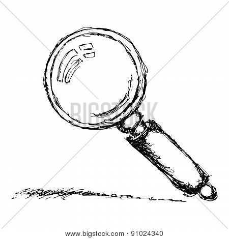 Sketch Of A Magnifying Glass