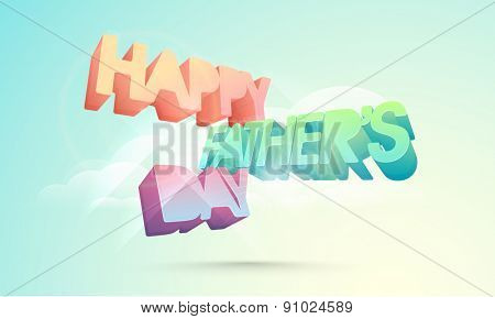 Happy Fathers Day celebrations greeting card design.