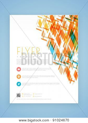 Stylish professional business flyer, template or brochure design.