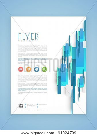 Abstract professional business flyer, template or brochure design.