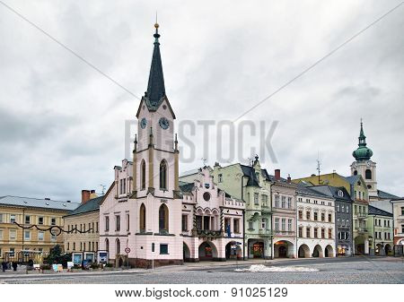 Historical Buildins On Krakonosova Square In Trutnov