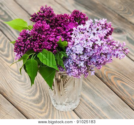 Vase With Lilac Flowers