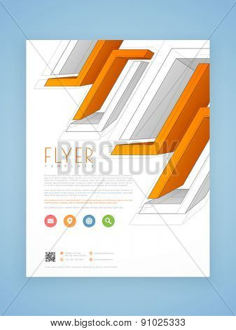 Creative abstract professional flyer, template or brochure design for your business.