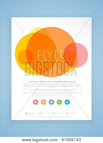 Beautiful professional flyer, template or brochure design for your business.