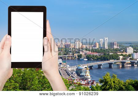 Tourist Photographs Of Kiev Cityscape