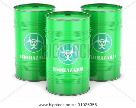 Biohazard Waste Barrels