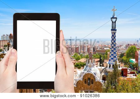Tourist Photographs Of Barcelona City, Spain