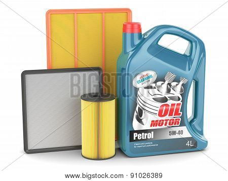 Change Auto Filters And Motor Oil