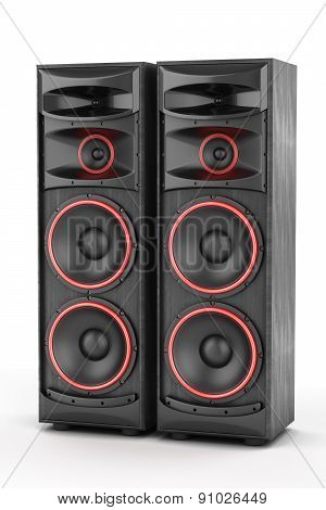 Two Power Speakers Boxes