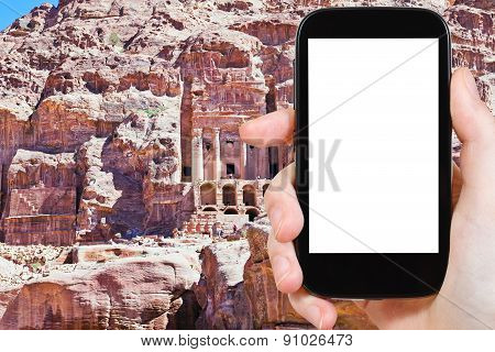 Photo Of Urn Tomb Cathedral In Petra, Jordan