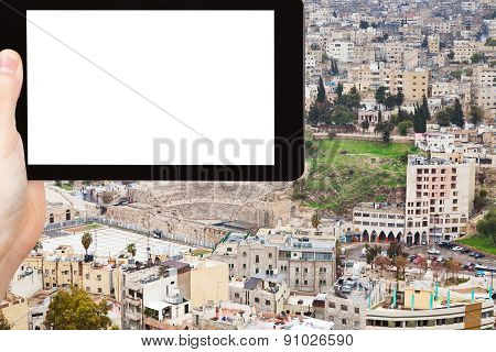Tourist Photographs Of Amman City, Jordan