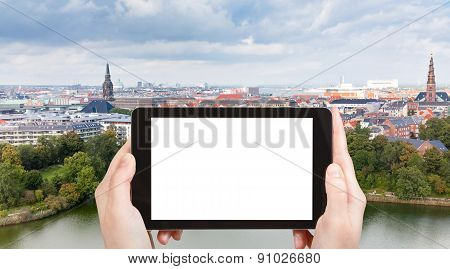 Tourist Photographs Of Panorama Of Copenhagen City