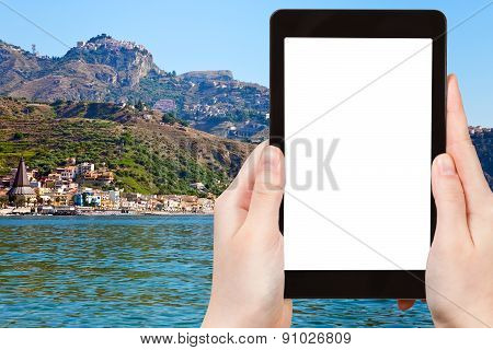Tourist Photographs Of Taormina City, Sicily